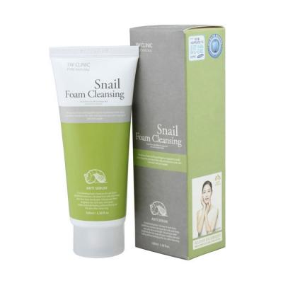 3W CLINIC Пенка для умывания УЛИТОЧНЫЙ МУЦИН Snail Foam Cleansing