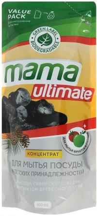Концентрат для мытья посуды и детских принадлежностей «Mama Ultimate» уголь