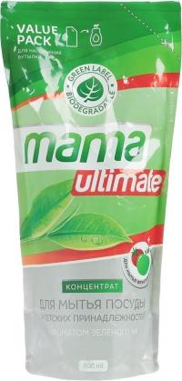 Концентрат для мытья посуды и детских принадлежностей «Mama Ultimate» зеленый чай